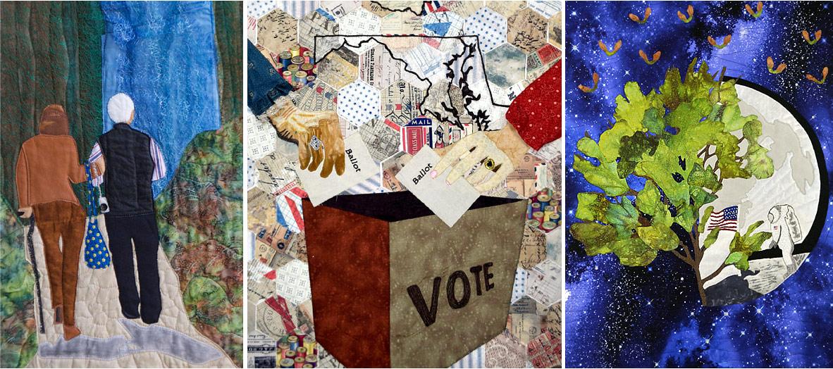 Art quilts - collaged image by Susanne M. Jones