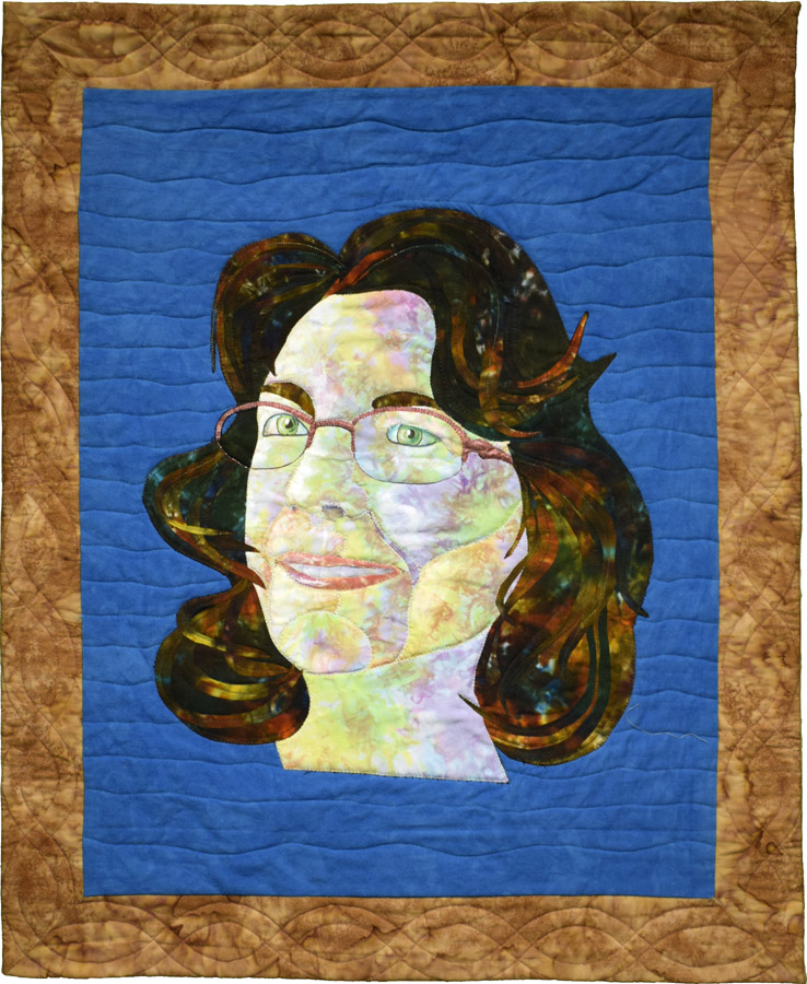 at quilt self portrait by Susanne Miller Jones