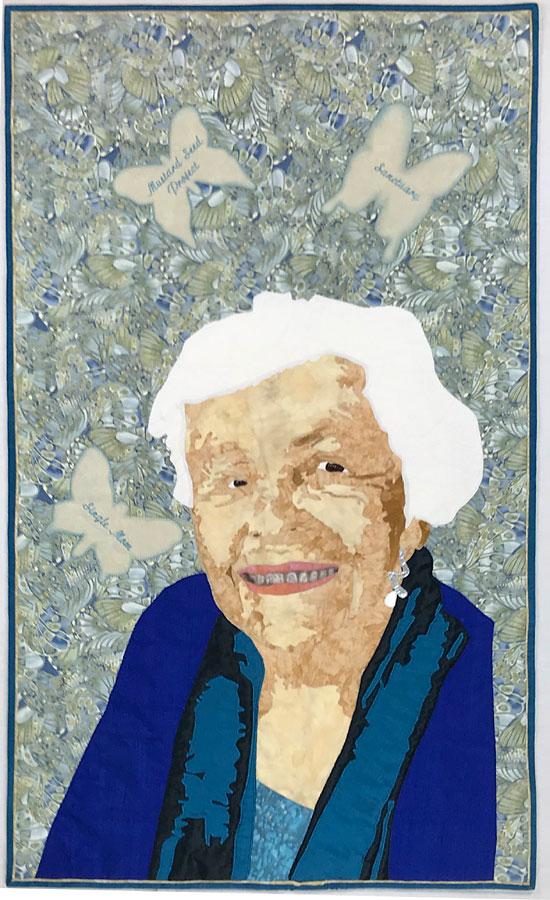 art quilt portrait of family, by Susanne Miller Jones