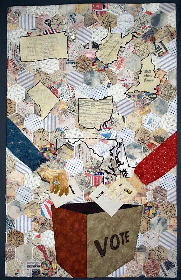 art quilt inspired by women's right to vote