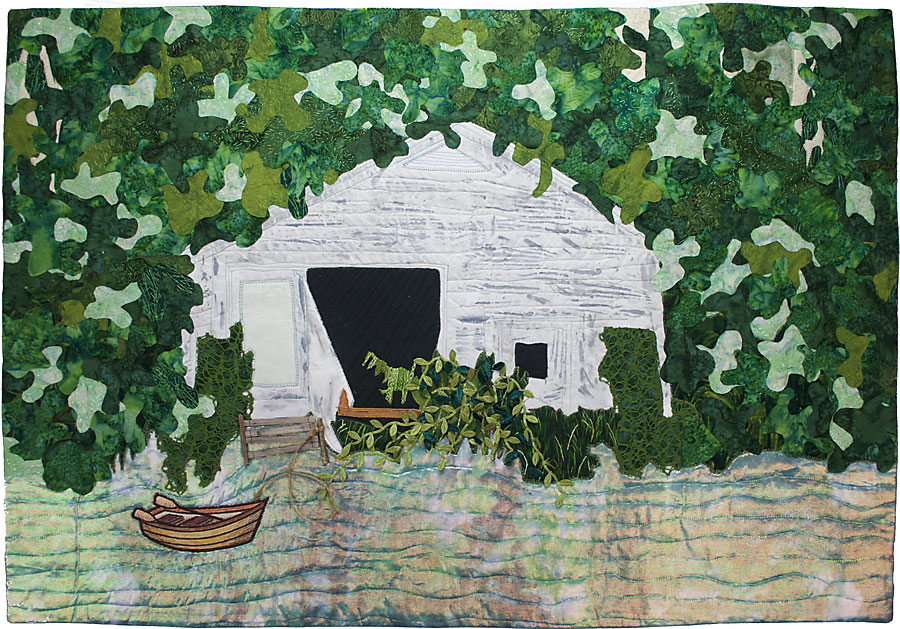 Art quilt inspired by memories and the south